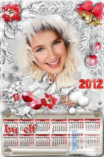 [iflang:russian]Рамка-календарь 2012 с вырезом для фото - Зимний сон /[iflang:russian]Frame calendar 2012 with a cutout for photo - Winter dream