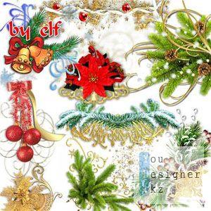 Новогодние заготовки для оформления фотоальбома