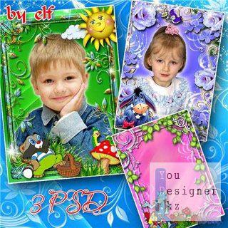 Детские рамочки для фото - Любимые герои мультфильмов