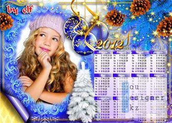 Рамка-календарь - В ожидании Нового года / Frame-calendar - Waiting for New year