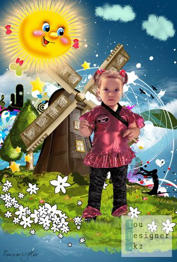 Детский шаблон - На лужку