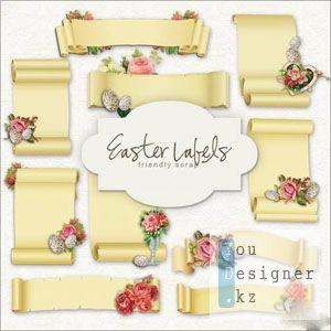 Скрап набор: Пасхальные лейблы / Scrap-kit - Easter Lables