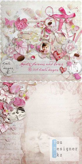 Scrap kit  - Hearts, Flowers And Bows