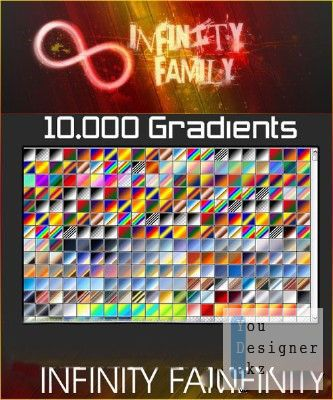 Набор из 10 000 Градиентов для Photoshop / 100 gradients for Photoshop