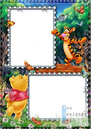 Детская рамка для фото с Винни Пухом № 11