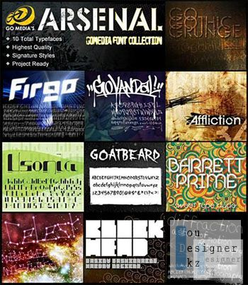 Go Media Arsenal Font Collection