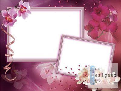 Рамка для Фотошоп - Орхидеи!!!