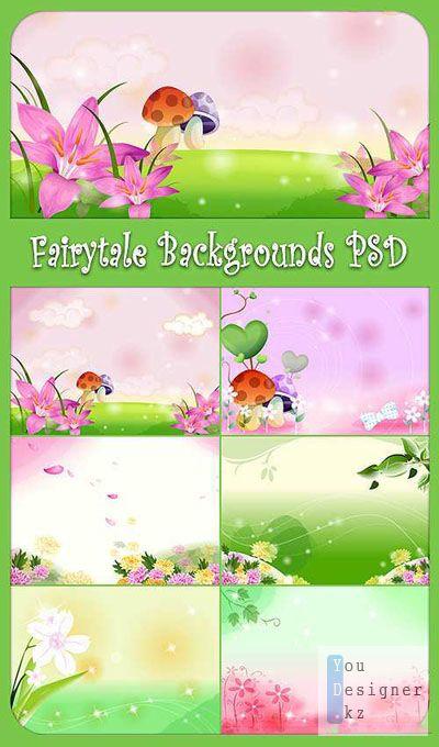 Fairytale Backgrounds PSD