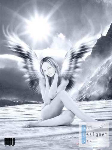 Стильный шаблоны для девушек - Ангел / Stylish templates for girls - Angel
