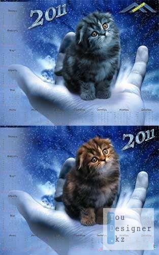 Шаблон Календарь на 2011 год