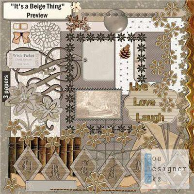 Скрап набор - Бежевый мир / Scrap kit - Beige world