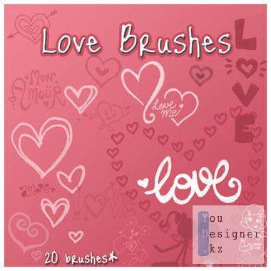 Кисти для фотошоп - Любовь / Love Brushes for Photoshop