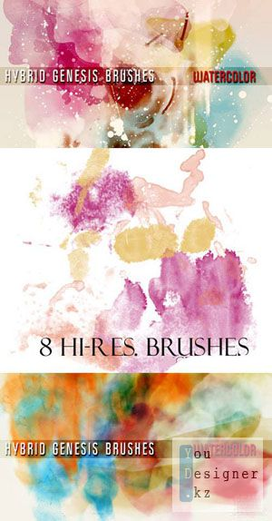 Гибридные кисти генезис - Акварель / Hybrid Genesis Brushes Watercolor
