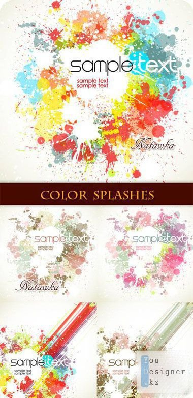 Paint splashes - Stock Vectors New!