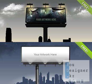 Шаблон - Билборды / Template - Bilboard PSD