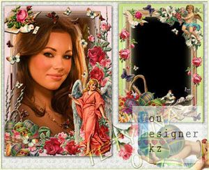 Винтажные рамки для фотошоп к Празднику Светлой Пасхи - Ангел–Хранитель