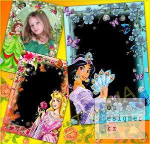 Детские рамочки для фото - Принцессы Диснея # 3