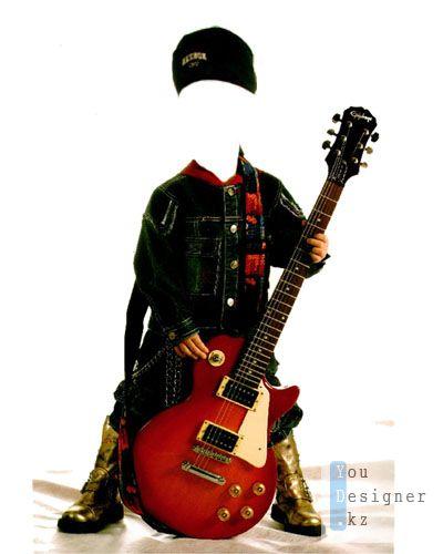 фотомонтаж: юный гитарист