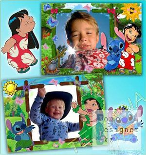 Baby photo-frames - Lilo and Stitch
