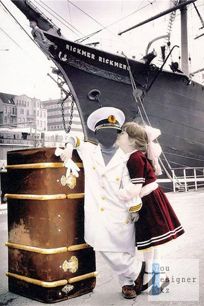 фотомонтаж: капитан корабля
