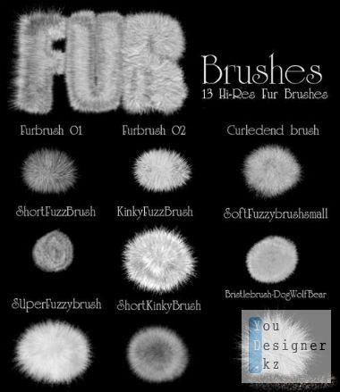 Кисти для фотошоп - Мех / Brushes for photoshop - Fur