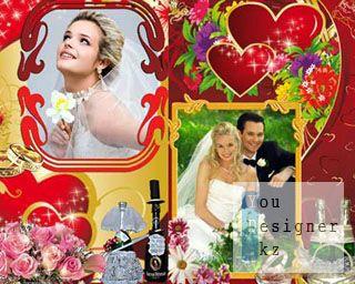 Две свадебные рамки для фотошопа