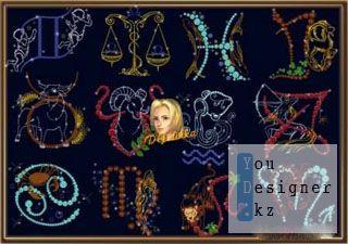 Шаблоны для фотошоп - Знаки зодиака 3