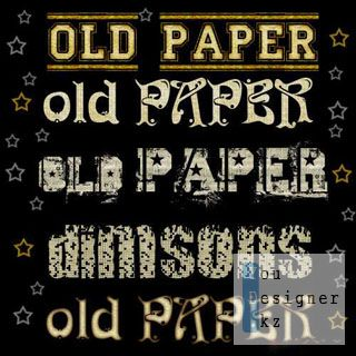 Текстовые стили старая бумага / Text styles old paper