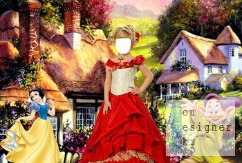 Детский шаблон - Алиса в сказочной стране