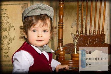 Шаблон для фотошопа-Мальчик в кепке
