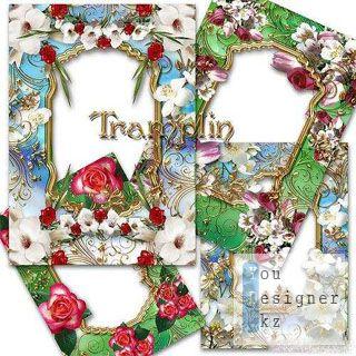 6 замечательных рамок для фото с цветами