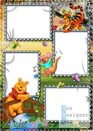 Детская рамка для фото с Вини Пухом №7