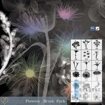 Набор кистей - Цветы / Flowers - Brush Pack
