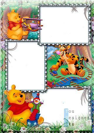 Детская рамка  для фото с Вини Пухом №8