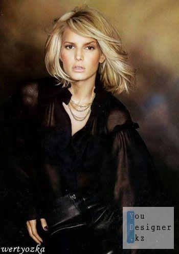 Женский шаблон для фотомонтажа - Девушка в черном / Female pattern for the photomontage - the lady in black