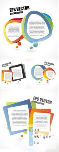 Abstract Speech Bubbles Vector