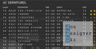 After Effects Project - Airport Departure Board 121766