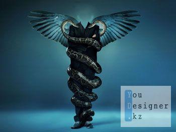 Шаблон для фотомонтажа-В объятиях змей  / Template for the photomontage-IN the arms of snakes
