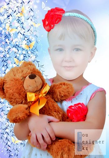 Шаблон для фотомонтажа-Мой мишка / Photo template - My teddy bear