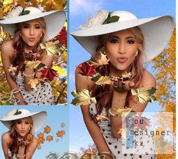 Рамка для фотошопа-Золотая осень / Frame for photoshop-Golden autumn