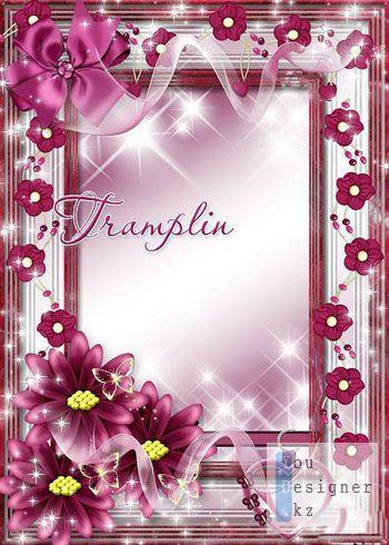 Рамка для фотошопа - Из бордового нежного бархата / Frame for photoshop - From burgundy tender velvet