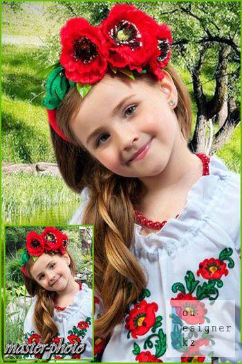 Шаблон для фотомонтажа-Украиночка / Template for the photomontage-Ukrainian girl