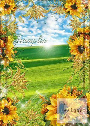 Рамка для фото-Подсолнухи / Photo frame-Sunflowers