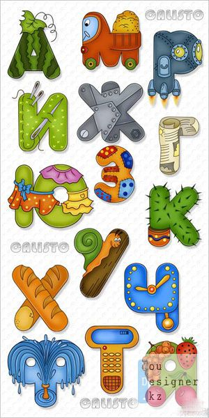 Детский букварь - алфавит (кириллица) / Children ABC book - alphabet