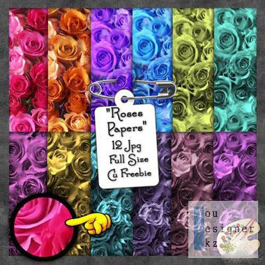 Фоны - Розы в разных цветовых тонах