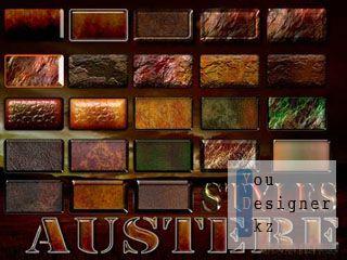 Строгие стили для фотошоп / Austere Photoshop Layer Styles