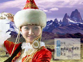 Шаблон для фотомонтажа - Айсулу, дочь степей / Template for photomontage - Aisulu, daughter of steppe