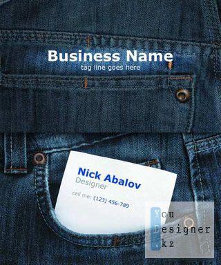 Джинсовая визитка (бизнес карта) / Jeans business card
