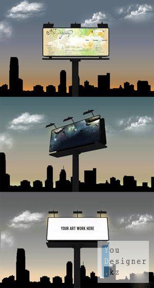 Шаблон для фотошоп:  Биллборд / Billboard - PSD