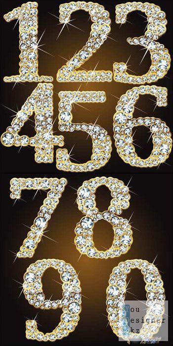 Векторные бриллиантовые номера